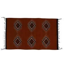 wool area rug maroon geometry 2x3