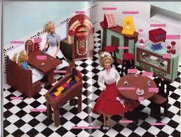 barbie furniture ideas. Barbie Soda Shop Restaurant Furniture Fashion Doll Plastic Canvas Pattern Annie\u0027s Attic 1989 Ideas C