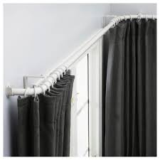 window curtain : Awesome Hugad Curtain Rod Combination Bay Window White  Tracks For Windows Ikea Spr Next Kit Round Curtains Corded Metal Track  Curved Pole ...