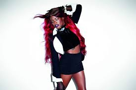 Amazon.com: AZEALIA BANKS wallpaper, American Rapper poster, Singer  wallpaper, redhead singer art print: Handmade