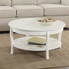white oval coffee table with storage