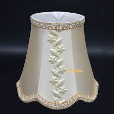 beige leaves mini lamp shade elegant fabric lampshades covers ing for e14 lamp holder for chandelier
