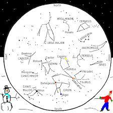 Constellation Sky Chart Astrology Star Chart Winter