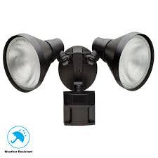 Outdoor Lighting Security Lights Defiant 180 Degree Black Motion Sensing Outdoor Security