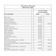 Balance Bank Account Template