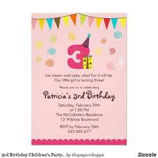 rd birthday childrens party invitation regarding lovely rd birthday invitations awesome 3rd birthday invitations