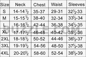 Shirt Neck Size Conversion Chart How To Measure For A Mans Dress Shirt Size Dreamworks