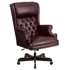 flash furniture high back traditional tufted burdy leather executive swivel office chair
