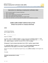 Bunch Ideas Of Employment Verification Letter For Business Visa Also