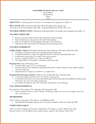Good Teacher Resume Examples 69 Images 55 Best Teacher