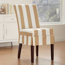 furniture covers chairs vintage linen chair cover seat living room modern skirted brown and white striped patterned with slip dining plus slipcover seater