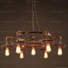 7 light vintage retro pendant lights