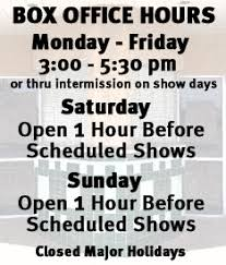 Box fice Hours Graphic for Website