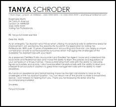 tax assistant cover letter sample tax assistant