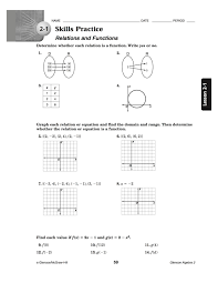 algebra 2 linear functions worksheet