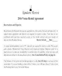 Venue Contract Template Venue Agreement Template Wedding Contract Rental Form