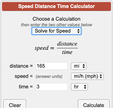 Rate Times Time Equals Distance Chart Speed Distance Time Calculator