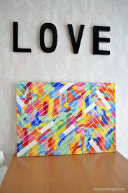 12 easy diy canvas art crafts how to decorate your own blank canvas projects