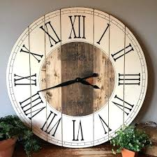 large farmhouse wall clock inch farmhouse clock rustic wall clock large wall clock unique wall clock personalized clock distressed clock wooden clock large