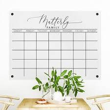 acrylic wall calendar dry erase