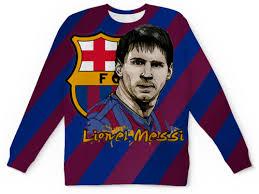 """Свитшот мужской с полной запечаткой """"Lionel <b>Messi</b> (1 ..."""