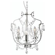 Kristaller Chandelier 3 Armed Silver Color Glass Ikea