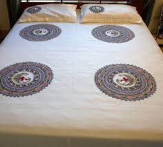 Mithila Painting Bed Sheet Design Bed Set 1 Madhubani Painting Madhubani Art Painting