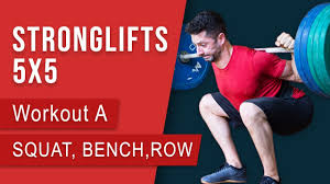 stronglifts 5x5 workout a squat bench press barbell row full body in 30min