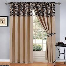 luxury damask curtains pair of half flock pencil