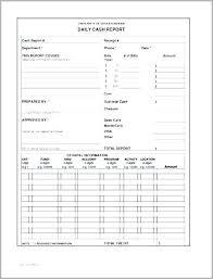 Cashier Report Template