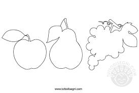 Sagome Di Frutta Da Colorare Tuttodisegnicom