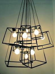 chrome industrial pendant light fixture vintage fixtures led look lighting this enormous installation is a network of all