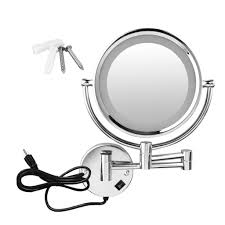 8 5 2side 10x wall mounted led magnification mirror lighted makeup mirror