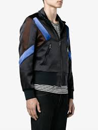 neil barrett panelled sport jacket