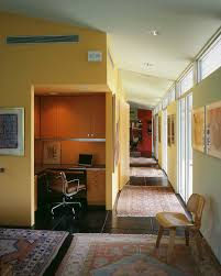 office bathroom decor. Office Bathroom Decor Home Midcentury With Wall Art Yellow Walls Dark Floor