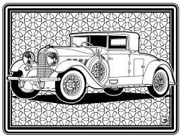 Downloadbare High Resolution Kleurplaat Pagina 8 Retro Oude Autos Serie
