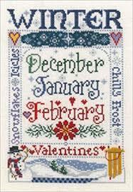 Winter Season Cross Stitch Chart Sandra Cozzolino Amazon