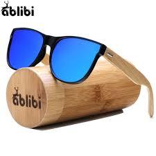 ablibi bamboo wooden sunglasses womens men oversize unique polarized mens black glasses mirrored in bamboo