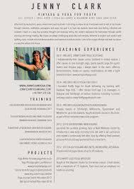Gallery Of Yoga Resume Templates Printable Templates Free
