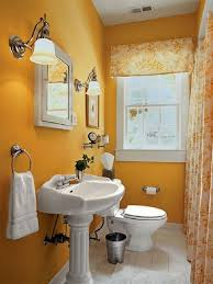 orange wall paintBeautiful Bathroom Decor Color Schemes with Orange Wall Paint and