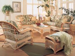 Living Room Wicker Furniture Vintage Rattan Furniture Yellow Throw Pillows Minimalist Coffee