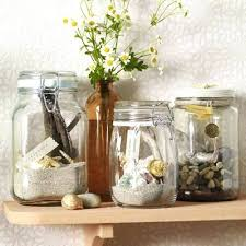 What To Put In Glass Jars For Decoration Sea Shells Decor Accessories Beach Home Decorating Ideas Glass 32