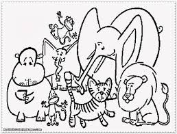 Lovely Zoo Animals Coloring Pages 53 In Free Colouring With Page 9