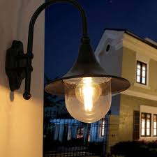 black vintage exterior outdoor lantern light fixture wall sconce 2 colors