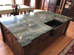 rainforest green marble island top