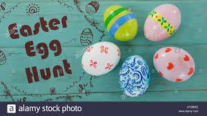 Easter Egg Hunt Logo Against White Background Against