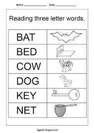 free worksheets for kindergarten three letter words with preschool ...