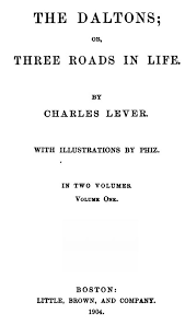 Caustic Twaddle Chart The Daltons By Charles James Lever