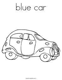 Small Picture blue car Coloring Page Twisty Noodle
