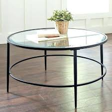 round glass coffee table s black with chrome legs